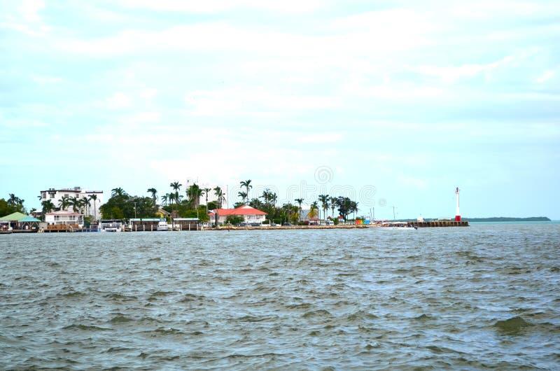 Ακτή πόλεων της Μπελίζ, Μπελίζ στοκ φωτογραφίες με δικαίωμα ελεύθερης χρήσης