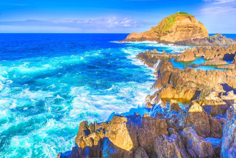 Ακτή στο Πόρτο Moniz στοκ εικόνες με δικαίωμα ελεύθερης χρήσης