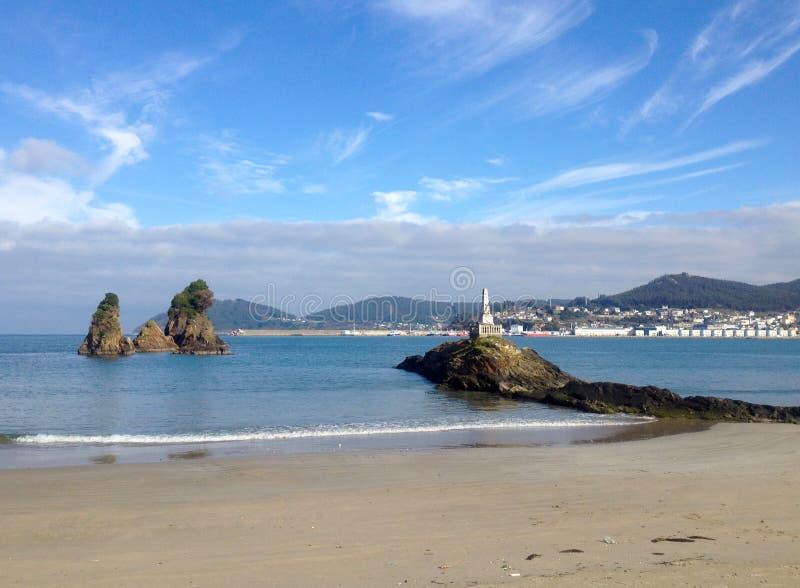 Ακτή της Γαλικία, παραλία Covas, Viveiro στην επαρχία Lugo, Ισπανία στοκ φωτογραφία με δικαίωμα ελεύθερης χρήσης