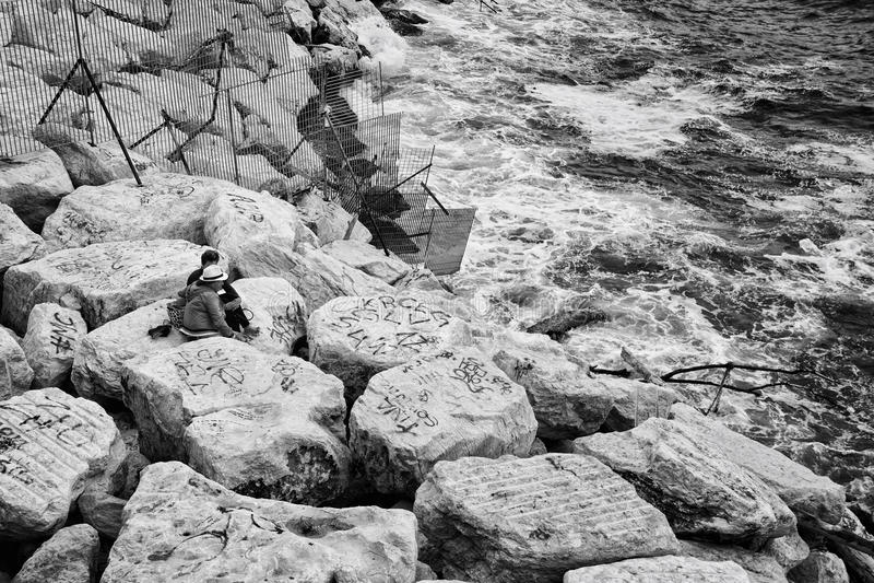 Ακτή της Νάπολης, Ιταλία στοκ εικόνες με δικαίωμα ελεύθερης χρήσης