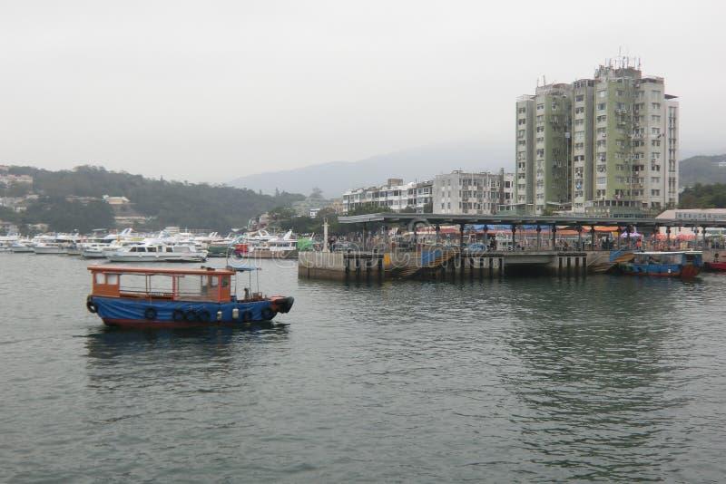 Ακτή της πόλης και των βαρκών Sai Kung στοκ εικόνες με δικαίωμα ελεύθερης χρήσης