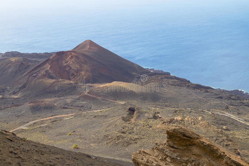 Ακτή του ηφαιστειακού νησιού Las Palmas στα Κανάρια νησιά στοκ εικόνες με δικαίωμα ελεύθερης χρήσης