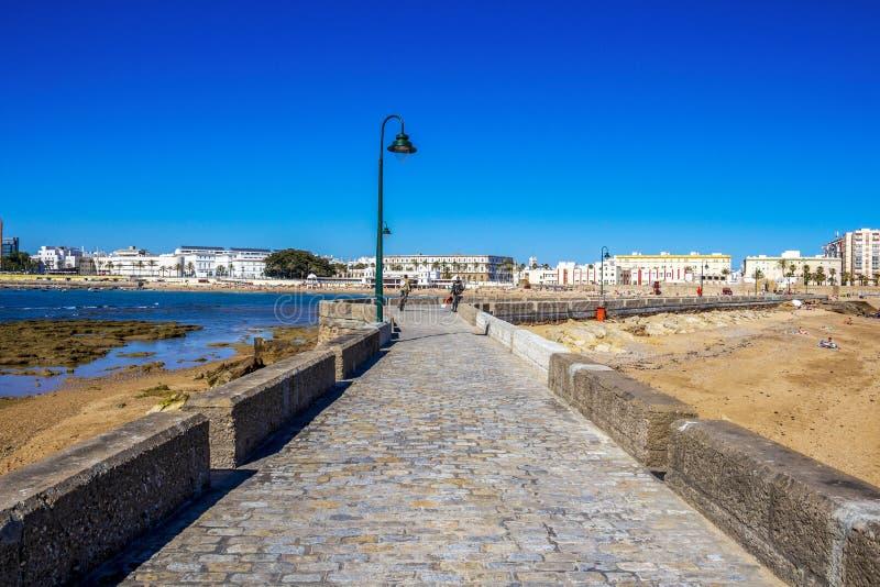 Ακτή του Καντίζ στην Ανδαλουσία, Ισπανία στοκ εικόνα με δικαίωμα ελεύθερης χρήσης