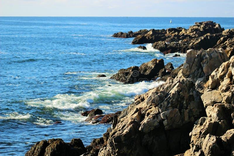 Ακτή του Μαίην στοκ φωτογραφία