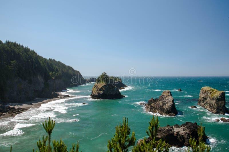Ακτή του Όρεγκον στοκ εικόνα με δικαίωμα ελεύθερης χρήσης