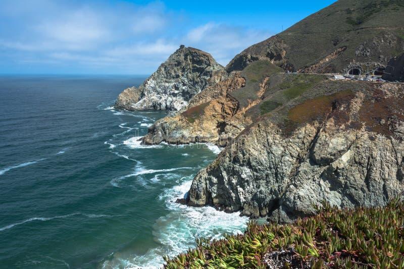Ακτή φωτογραφικών διαφανειών διαβόλων, Καλιφόρνια στοκ φωτογραφία με δικαίωμα ελεύθερης χρήσης