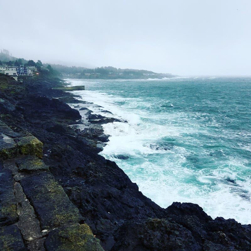 ακτή Όρεγκον στοκ φωτογραφία