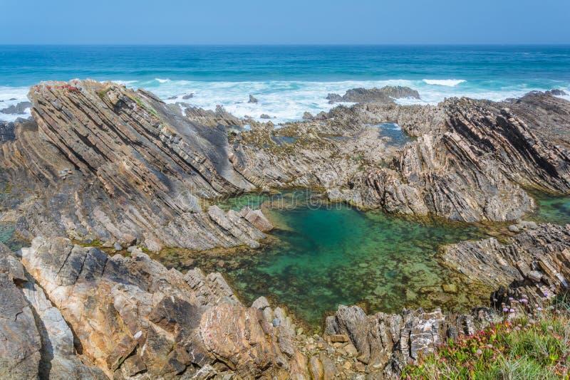 Ακτή Almograve, Πορτογαλία στοκ εικόνες