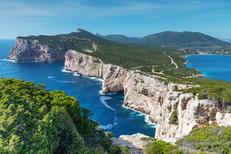 Ακτή Caccia Capo στη Σαρδηνία στοκ φωτογραφία με δικαίωμα ελεύθερης χρήσης