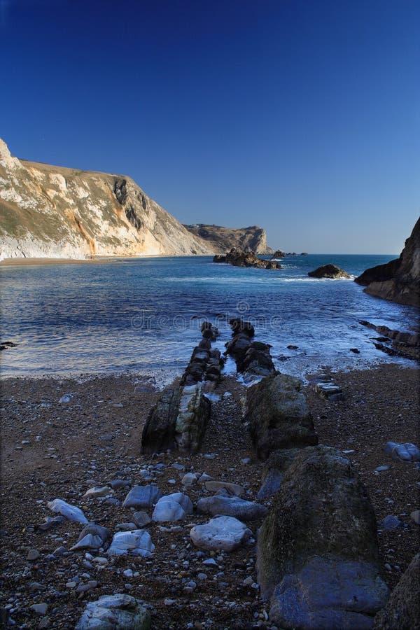ακτή Dorset στοκ εικόνες