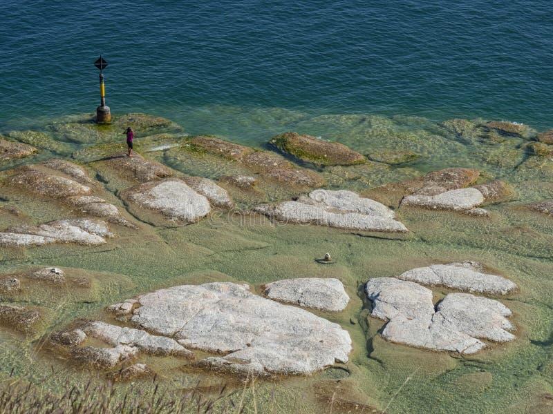 Ακτή Garda λιμνών στοκ φωτογραφία