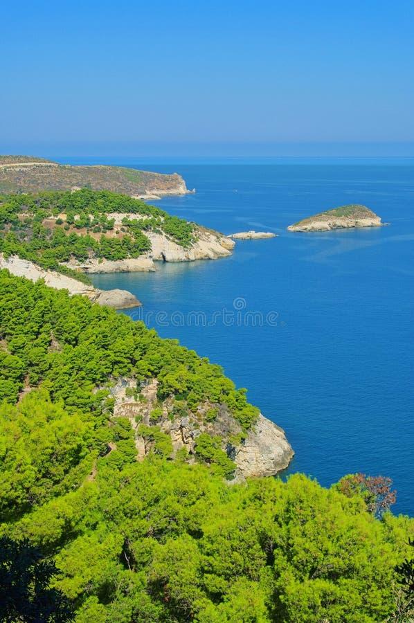 Ακτή Gargano στοκ εικόνες με δικαίωμα ελεύθερης χρήσης
