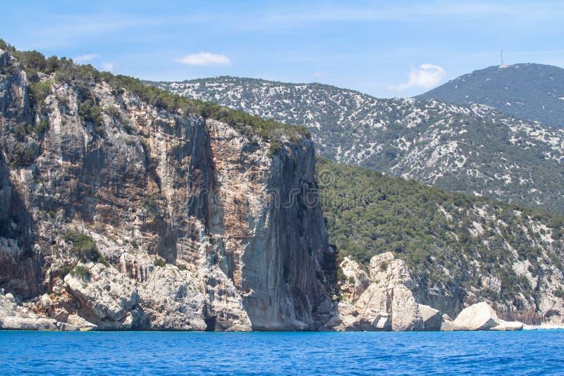 Ακτή Golfo Di Orosei, Σαρδηνία, Ιταλία στοκ εικόνα με δικαίωμα ελεύθερης χρήσης