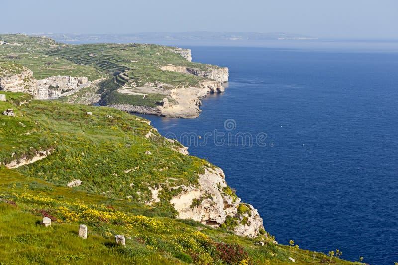 Ακτή Gozo στοκ φωτογραφίες