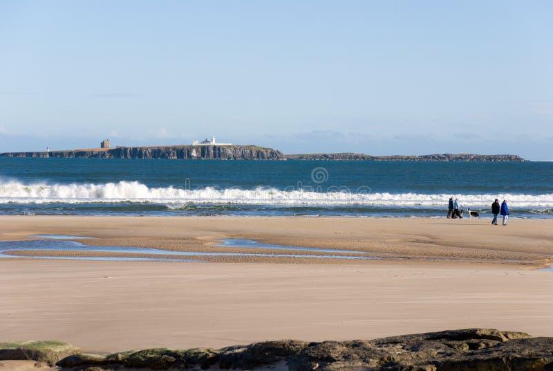 ακτή Northumberland στοκ φωτογραφία με δικαίωμα ελεύθερης χρήσης