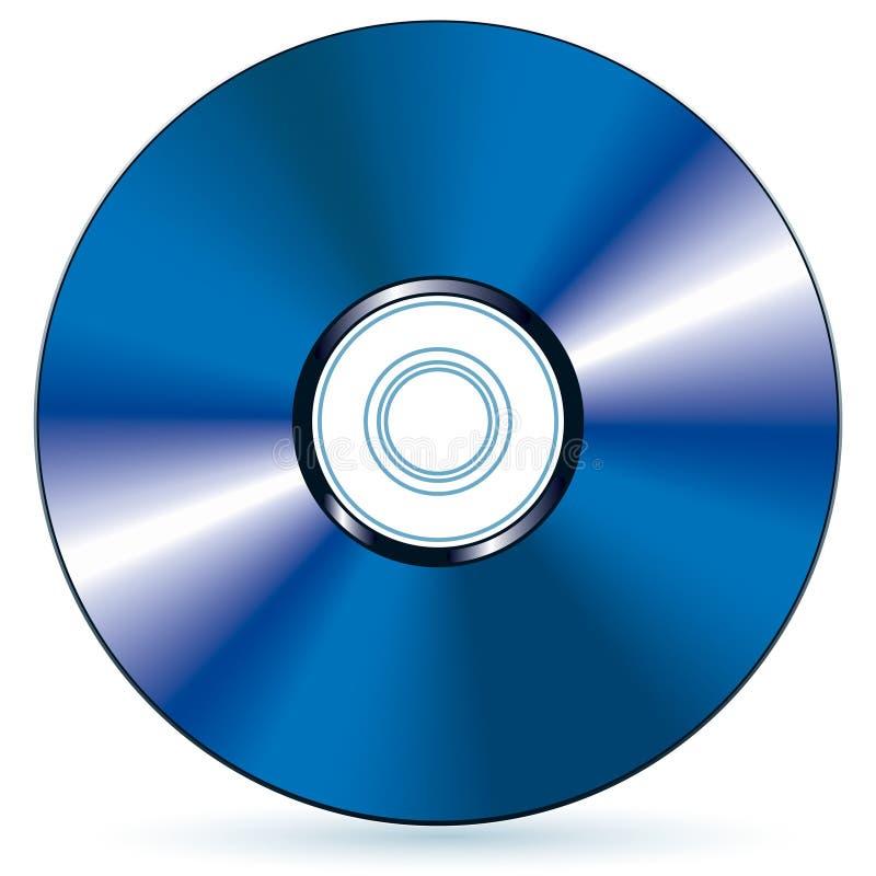 ακτίνα δίσκων blu διανυσματική απεικόνιση