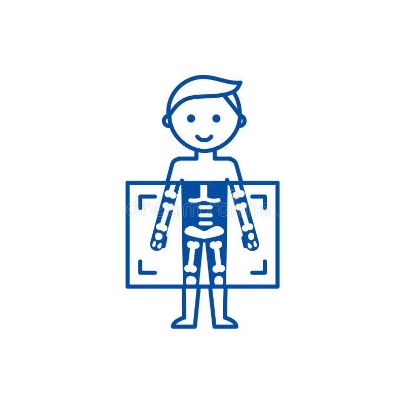 Ακτίνα X, ιατρική έννοια εικονιδίων γραμμών ατόμων διαγνωστικών Ακτίνα X, ιατρικό επίπεδο διανυσματικό σύμβολο ατόμων διαγνωστικώ ελεύθερη απεικόνιση δικαιώματος