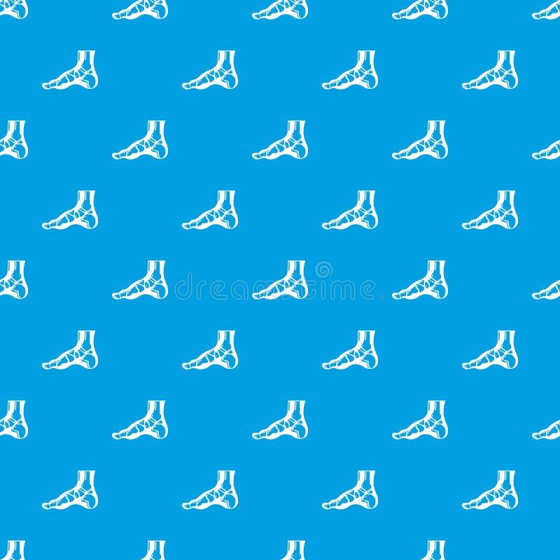 Ακτίνα X του διανυσματικού άνευ ραφής μπλε σχεδίων ποδιών διανυσματική απεικόνιση