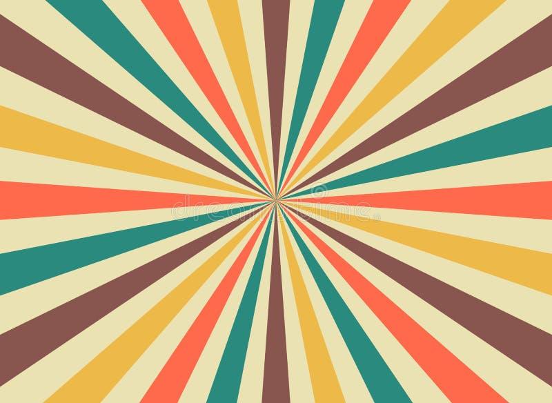 Ακτίνες ήλιων ανατολής στο αναδρομικό ύφος starburst r r ελεύθερη απεικόνιση δικαιώματος