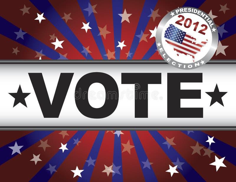 Ακτίνες ήλιων αστεριών ψηφοφορίας 2012 κόκκινες άσπρες και μπλε απεικόνιση αποθεμάτων