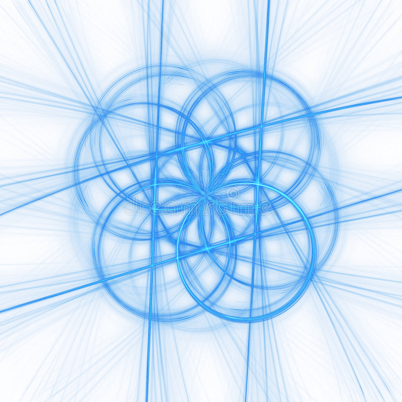 ακτίνες κύκλων διανυσματική απεικόνιση