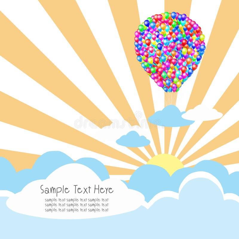 ακτίνες σύννεφων μπαλονιώ&nu ελεύθερη απεικόνιση δικαιώματος