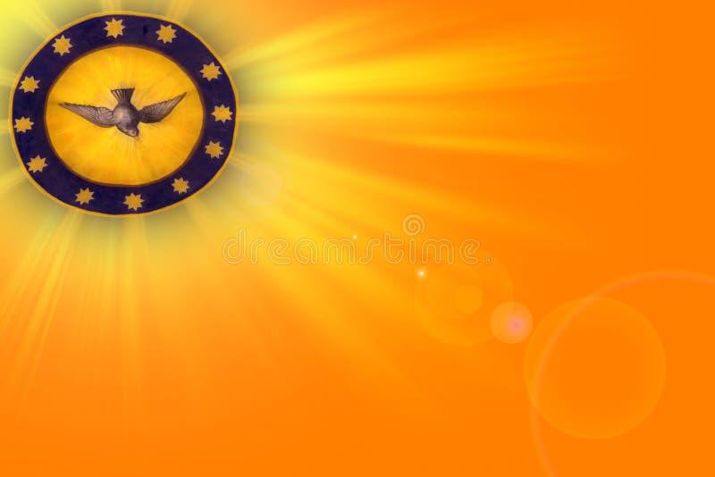 Ακτίνες του φωτός και της καθόδου του ιερού πνεύματος διανυσματική απεικόνιση