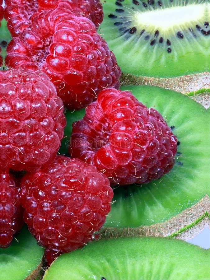 ακτινίδιο rasberry στοκ εικόνα