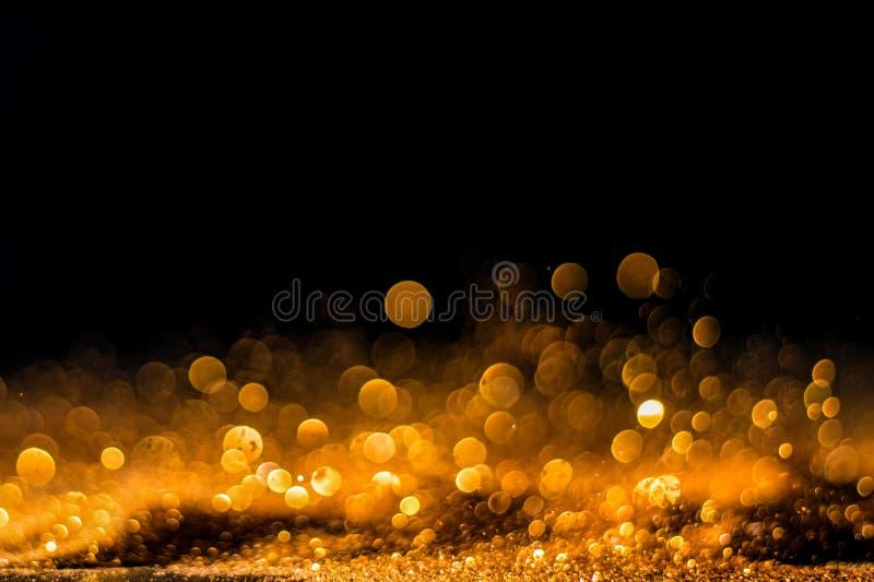 Ακτινοβολήστε εκλεκτής ποιότητας υπόβαθρο φω'των χρυσός και ο Μαύρος de που στρέφεται στοκ εικόνες με δικαίωμα ελεύθερης χρήσης