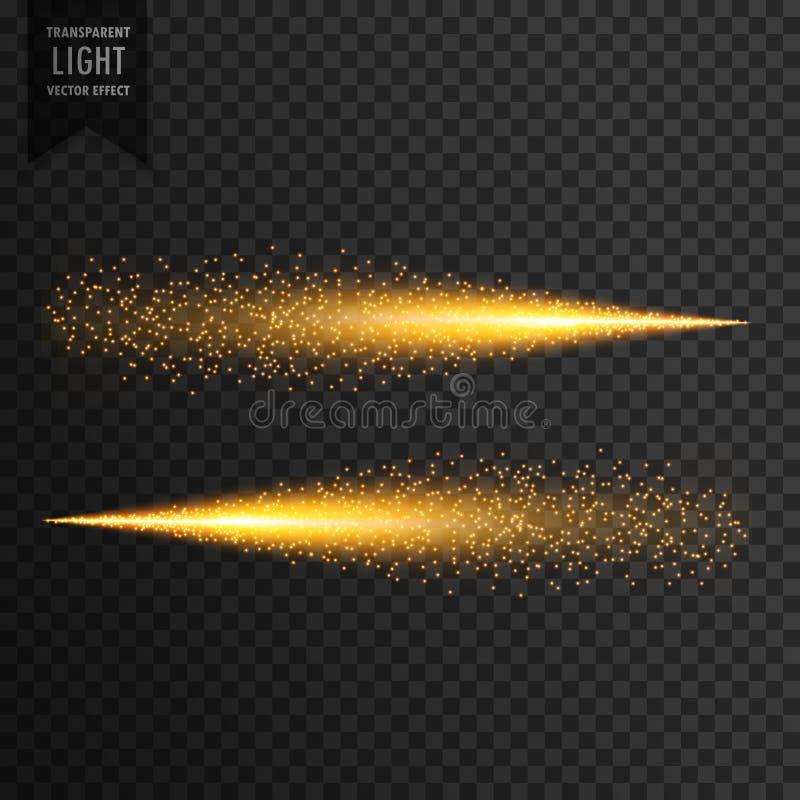 Ακτινοβολήστε ελαφριά ελαφριά επίδραση σπινθηρισμάτων ιχνών διανυσματική απεικόνιση