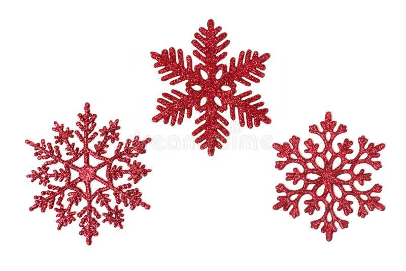 ακτινοβολήστε κόκκινα snowfl στοκ εικόνες με δικαίωμα ελεύθερης χρήσης