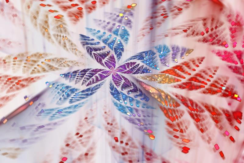 Ακτινοβολώντας αφηρημένη fractal πεταλούδα ελεύθερη απεικόνιση δικαιώματος