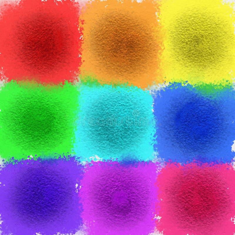 Ακτινοβολήστε επιχρίσματα χρωμάτων διανυσματική απεικόνιση