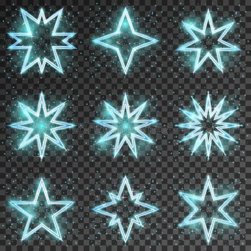 Ακτινοβολήστε διάνυσμα αστεριών απεικόνιση αποθεμάτων