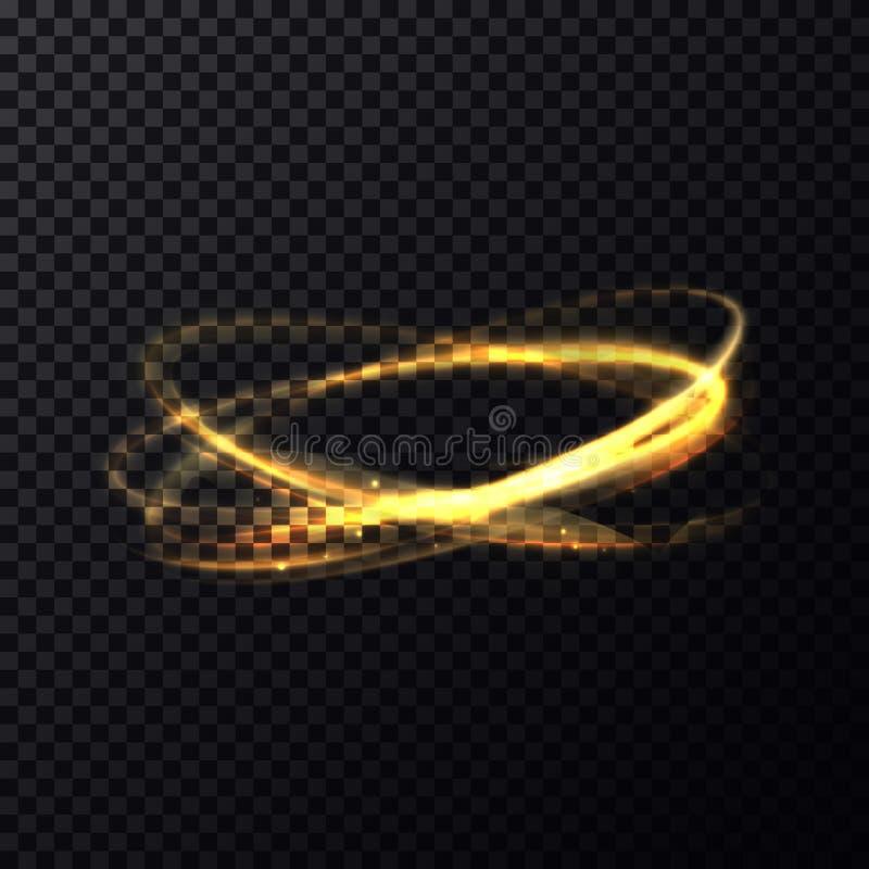 Ακτινοβολία ή φωτεινότητα των διασχισμένων δαχτυλιδιών και των κύκλων διανυσματική απεικόνιση