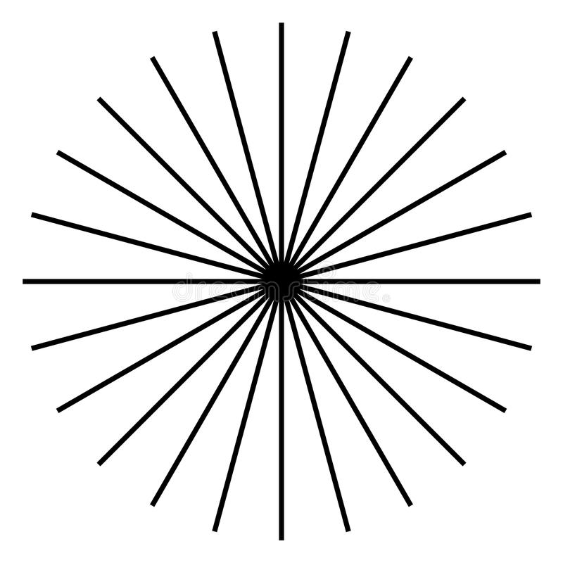Ακτινοβολώντας, ακτινωτές γραμμές Starburst, μορφή ηλιοφάνειας Ray, λι ακτίνων απεικόνιση αποθεμάτων