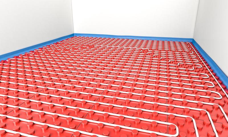 Ακτινοβόλος επιτροπή στο πάτωμα απεικόνιση αποθεμάτων