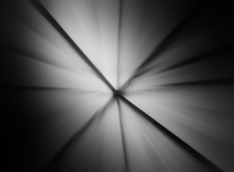 Ακτινωτό γραπτό υπόβαθρο θαμπάδων κινήσεων στοκ εικόνες με δικαίωμα ελεύθερης χρήσης
