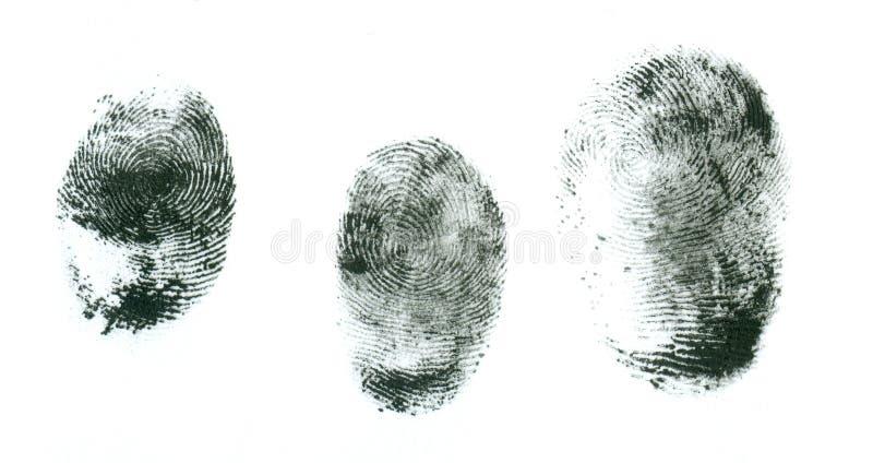 δακτυλικά αποτυπώματα σε ένα άσπρο υπόβαθρο στοκ εικόνες