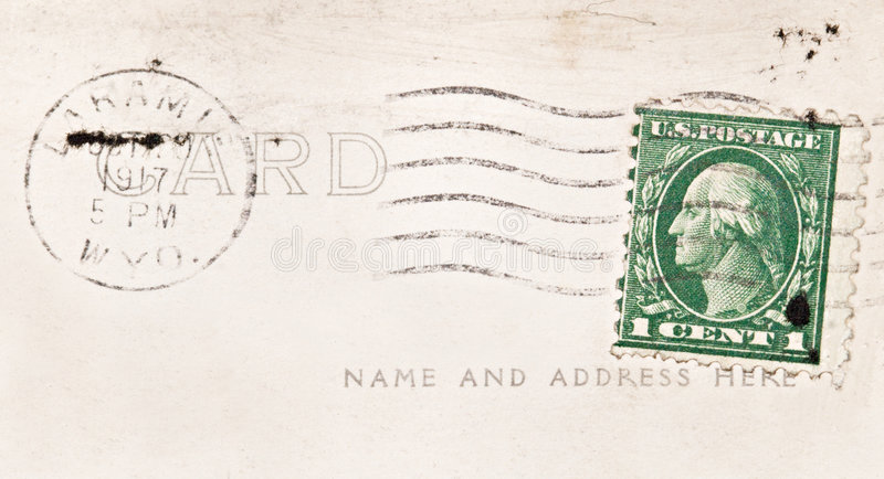 ακυρωμένο σεντ ένα γραμμα&ta στοκ φωτογραφίες
