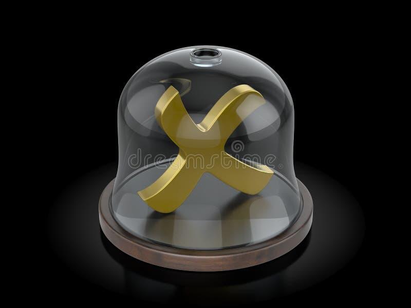 Ακυρώστε το σύμβολο κάτω από το θόλο ελεύθερη απεικόνιση δικαιώματος
