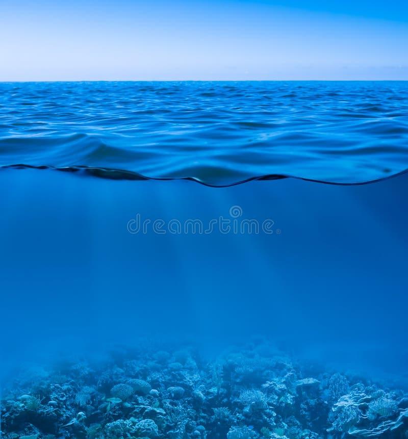Ακόμα ήρεμη θάλασσα υποβρύχια στοκ φωτογραφία