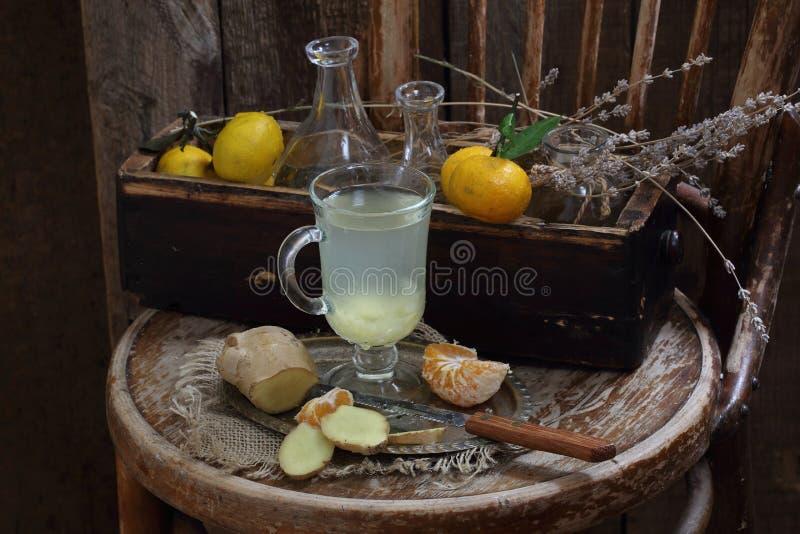 Ακόμα ζωή με την πιπερόριζα, το λεμόνι, το μέλι και τα χορτάρια de Προβηγκία στοκ φωτογραφίες με δικαίωμα ελεύθερης χρήσης