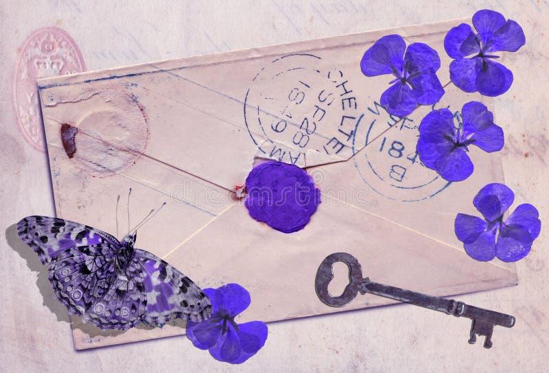 Ακόμα ζωή: Μνήμες της βιολέτας στοκ φωτογραφίες με δικαίωμα ελεύθερης χρήσης