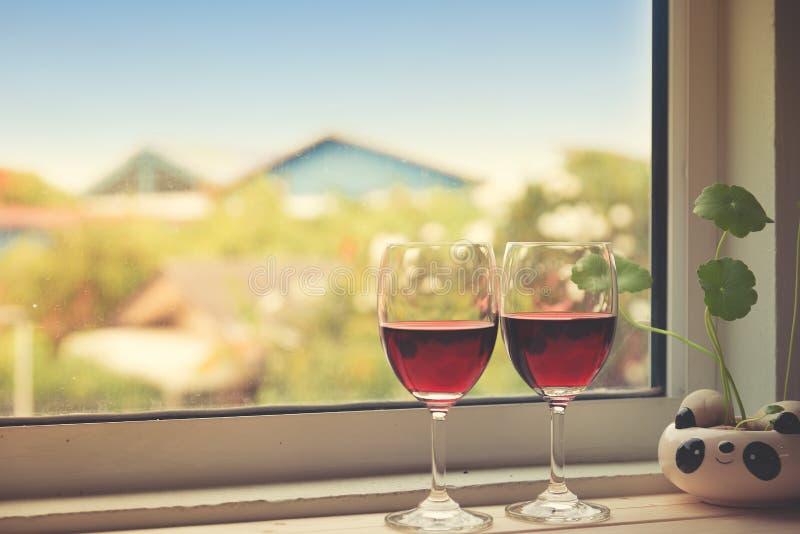 Ακόμα ζωή των γυαλιών κρασιού στοκ φωτογραφίες με δικαίωμα ελεύθερης χρήσης