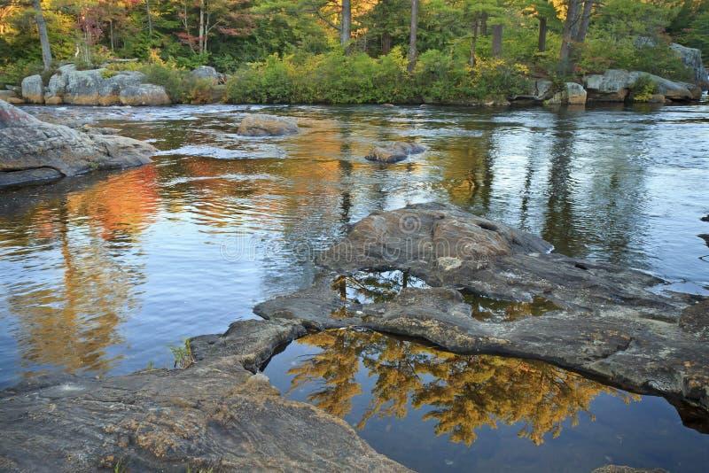 Ακόμα λίμνες στον ποταμό αλκών στοκ εικόνα με δικαίωμα ελεύθερης χρήσης