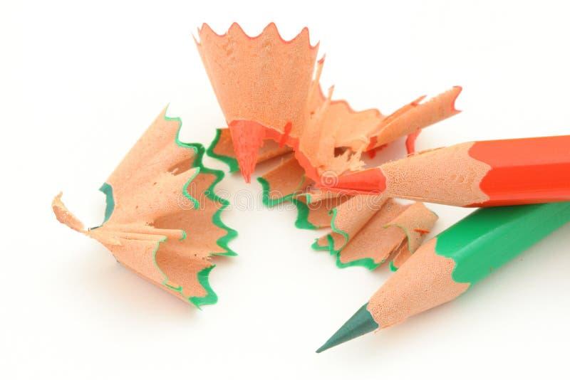 ακόνισμα 5 χρωματισμένο μολυβιών στοκ εικόνα με δικαίωμα ελεύθερης χρήσης