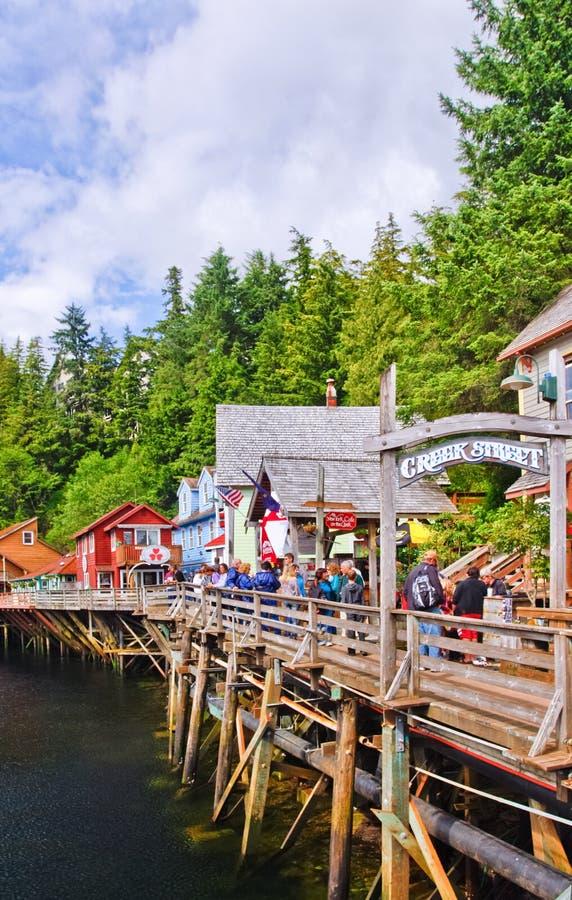 Αλάσκα - οδός Ketchikan κολπίσκου στοκ εικόνα