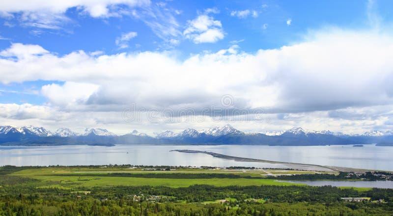 Αλάσκα - Όμηρος, ο οβελός και ο κόλπος Kachemak στοκ εικόνες με δικαίωμα ελεύθερης χρήσης