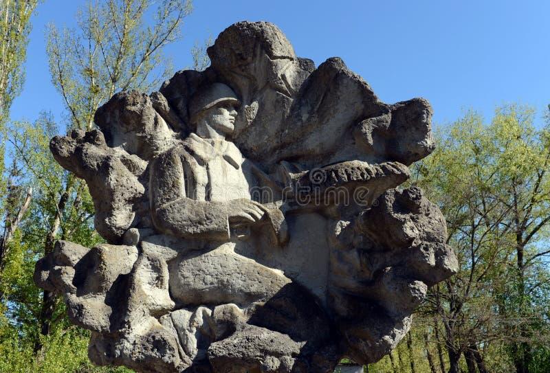 Αλέα της στρατιωτικής δόξας στο πάρκο νίκης σε Volgodonsk στοκ φωτογραφία